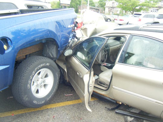 A 45-year-old Two Rivers woman lost control of her