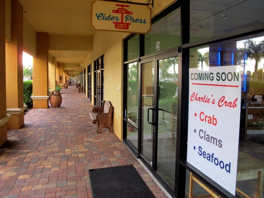 Charlie's Crab, Clams & Seafood is coming soon to the former location of Cider Press Cafe in North Naples.