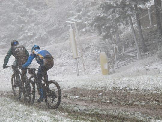 Warren Wilson College mountain bicylist Paul Wright,