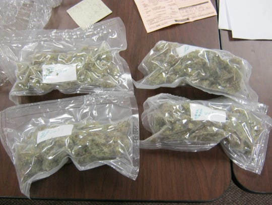 Marijuana seized by Springfield Police as part of a