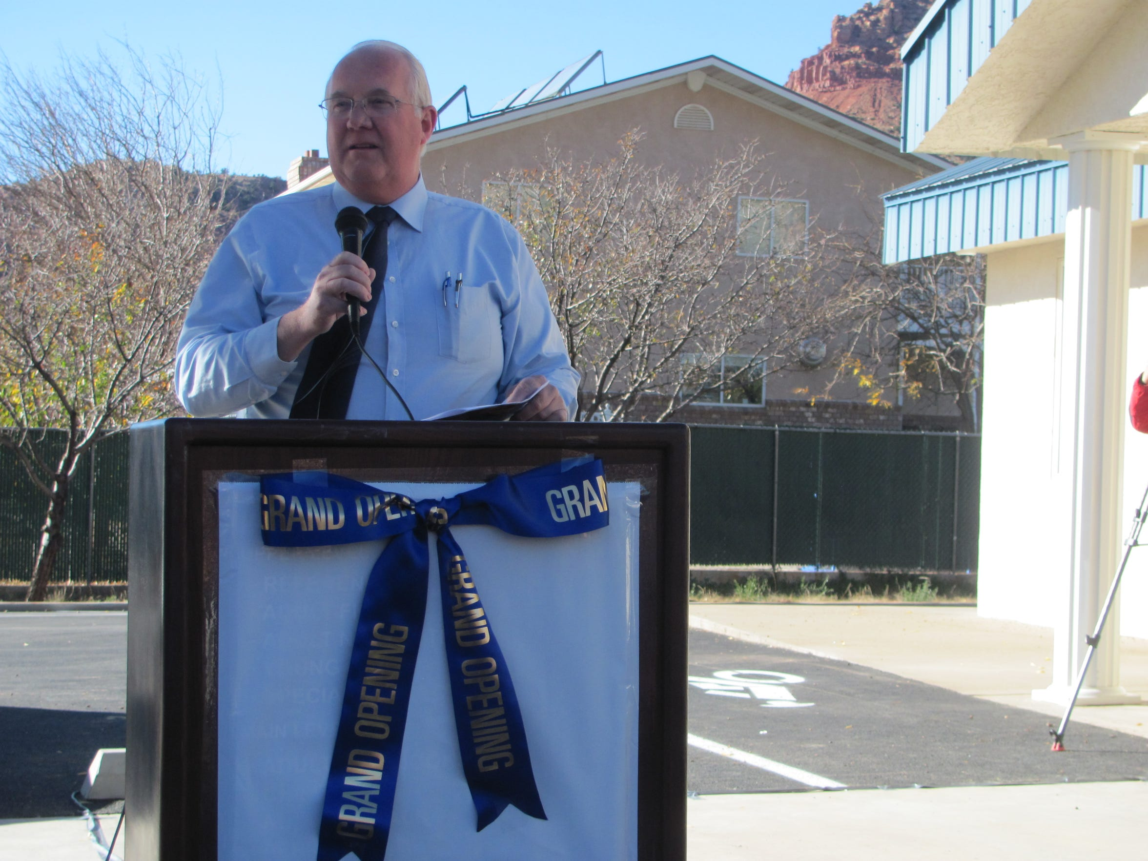Hildale Mayor Philip Barlow pays tribute to the veterans