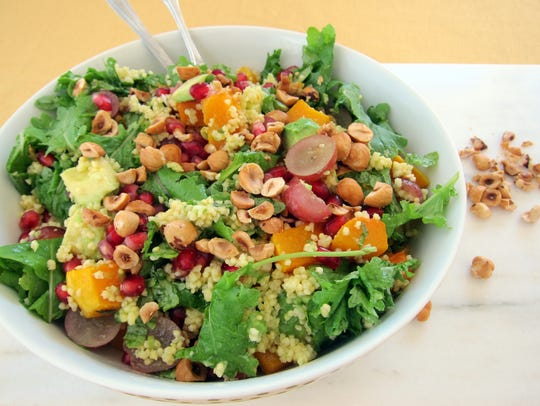 Keep this colorful Winter Squash and Millet Salad with