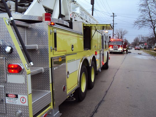 An apartment fire in the 1800 block of Madison Street