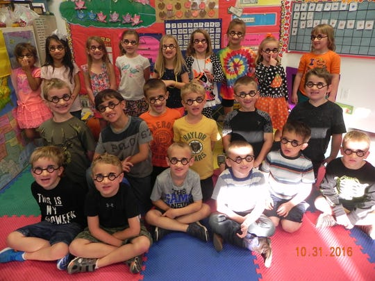 Kim Hudson�s kindergarten class at Wylie Early Childhood wore noses to help learn about the letter N.