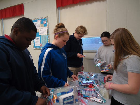 Cumberland Christian middle school students help orphans