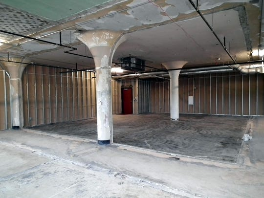 It doesn't look like much now, but this large room in the Eyer Building soon will become the new East Rochester Department of Local History. It will include office space, a private workroom and display space.