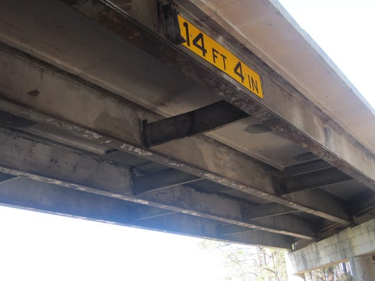 The renovated S.C. 20 connector bridge over U.S. 29 is 5 inches higher than before the Feb. 22 crash.