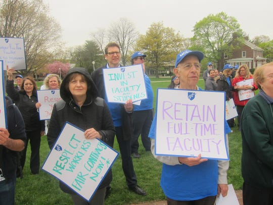 Students, faculty and staff held a rally at Middlesex