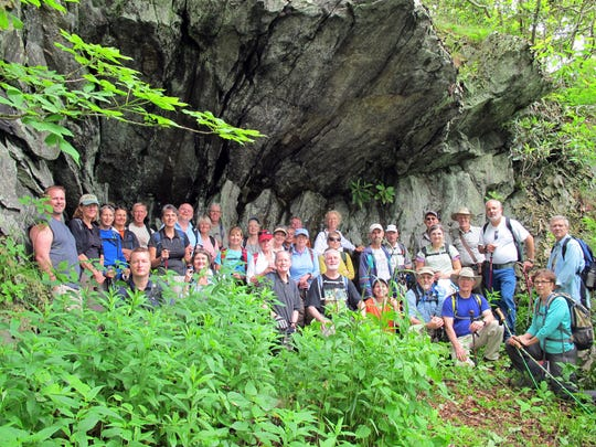 One of the first Swannanoa Valley Museum hikes of the spring has traditionally brought out a large group.