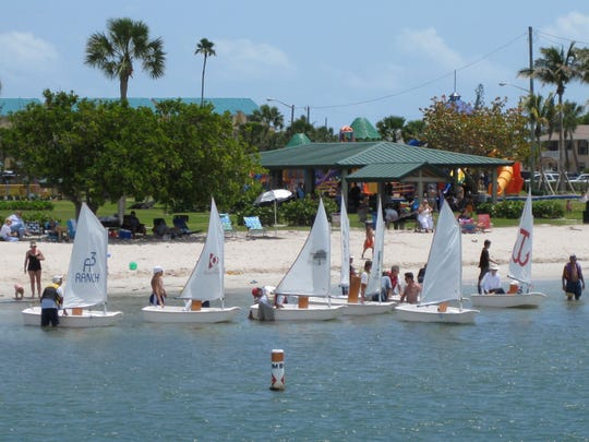 Optis ready to sail from the The Fort Pierce Sailing Center.