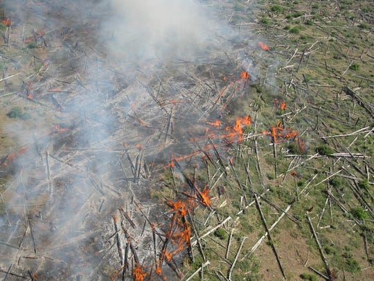 The Boundary Fire in the Kaibab National Forest has
