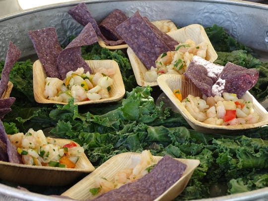 Fast Eddies's paired shrimp and scallop ceviche with