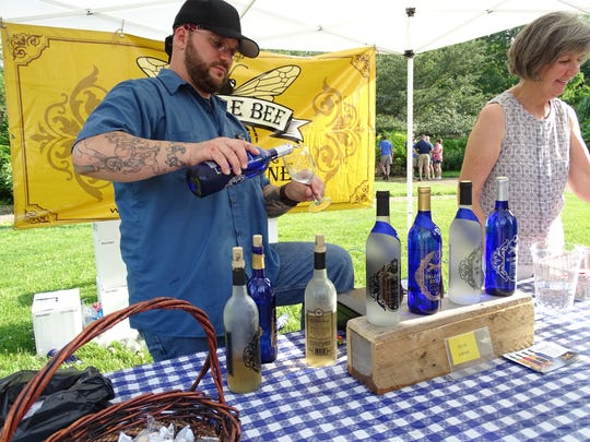 Humble Bee Vineyards of Lakewood was among the seven Ohio wineries represented at Kingwood's Wine Walk and Chef's Tasting.