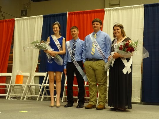 The 2017 Marion County Fair court includes (from left)