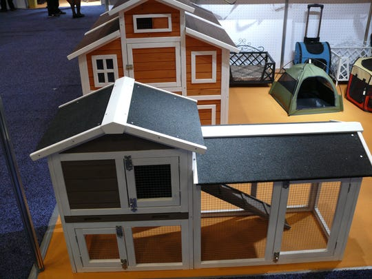 An example of a chicken coop at the Global Pet Expo in Orlando.