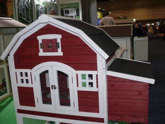 Example of a chicken coop at the Global Pet Expo in