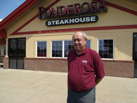 Ervin Campbell stands outside the Ponderosa Steakhouse off Ohio 95 in Marion in 2017. It was one of four others that he operated in Ohio. However, Campbell said he had to close it on Monday due to a lack of business.