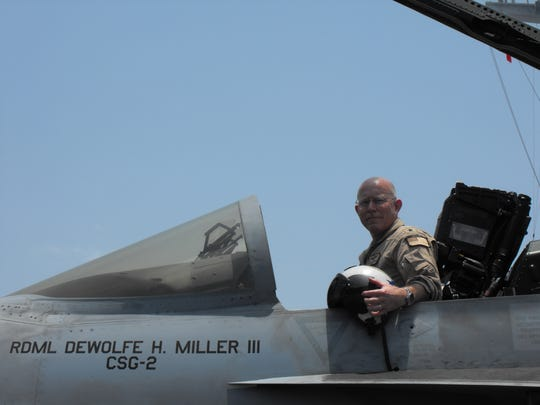 Adm. Miller flew F-18 Super Hornets. He said there is nothing like flying a high-performance fighter jet.