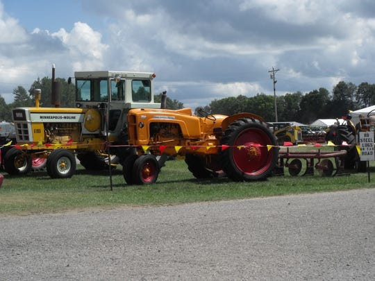 Minneapolis-Moline was the featured tractor at the annual Northeast Indiana Steam and Gas Association show.