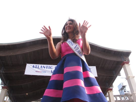 Miss Vermont Erin Connor greets the public on the Atlantic