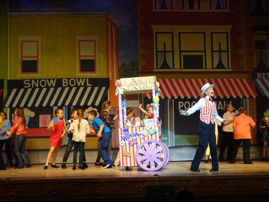 """The musical """"Willy Wonka, Jr."""" shows this weekend at"""