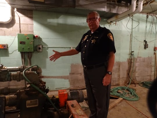 """Marion County Sheriff Tim Bailey said the sheriff office's sewer system has """"wreaked havoc"""" on the sheriff's office for years."""