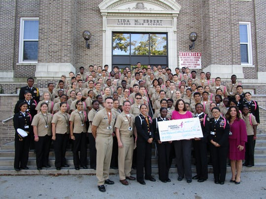 Linden Naval Junior ROTC cadets who participated in
