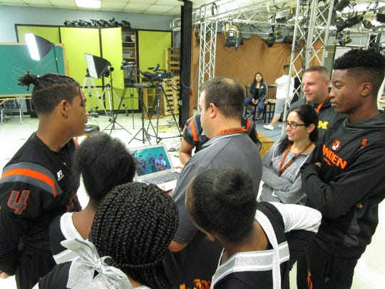 Inside Linden High School's Academy of Science and Technology is the Linden Public Schools' media hub – a TV studio that produces a weekly news show and teaches students real-life technical skills for the 21st century media landscape.
