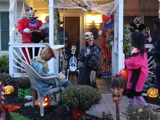 Trick-or-treaters giggled and screamed as they explored