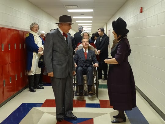 Past presidents walked the halls of Harding High School Saturday at the Marion County Historical Society's Dinner with the Presidents.