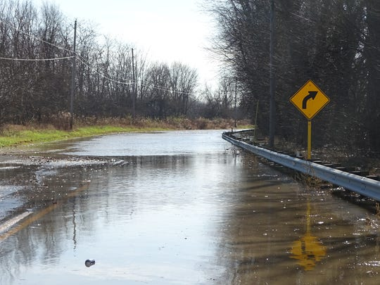 Ohio 203 from Ohio 4 to Prospect was closed in November 2017 due to flooding from weekend rain.