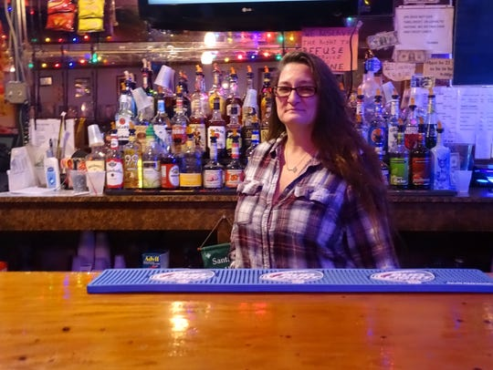 Jenny Valentin is a bartender at Someplace Else Bar,