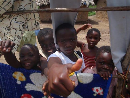 Children in Pinga, Democratic Republic of the Congo,