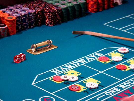 This Jan. 31, 2018, photo shows a game of craps under