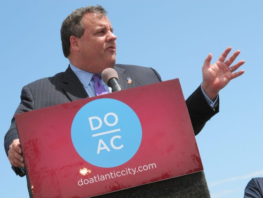 New Jersey Gov. Chris Christie speaks in Atlantic City