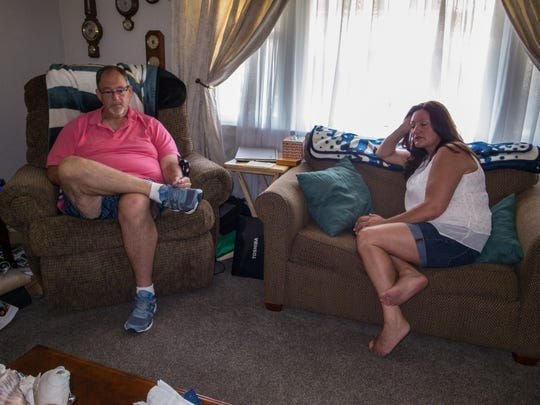 Don and Dara Mazza talk about their son Michael in their Ocean Township home.