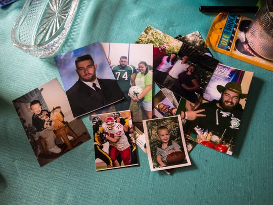 Photos of Michael Mazza at his parents' home in Ocean