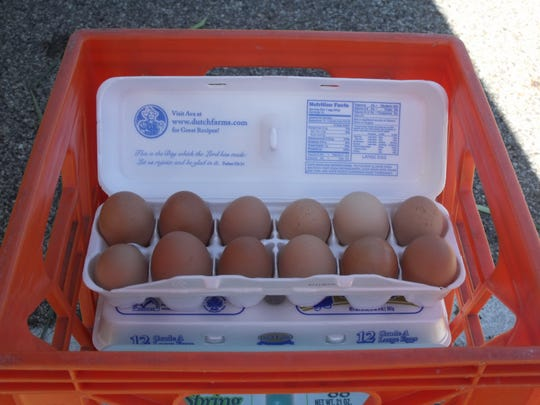Eggs are one of the common additions in a CSA box as many producers raise chickens along with other agricultural products.