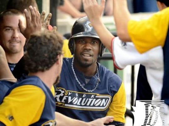 Andres Perez was the hitting hero for the York Revolution on Thursday night.