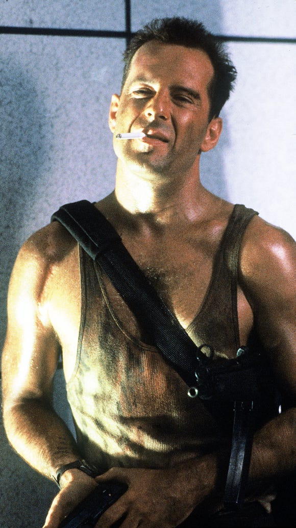 John McClane (as played by Bruce Willis): Impossible to kill, endlessly entertaining to watch.