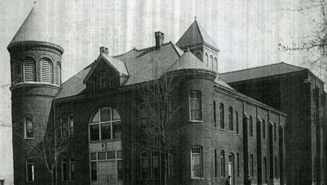 The Binghamton State Hospital Assembly Hall, around 1910.