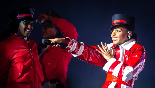 Janelle Monae performs Saturday at the Murat...