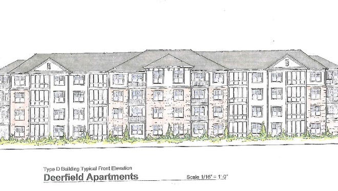 A rendering of one of the apartment buildings proposed for the Deerfield Springs residential development off U.S. 22 & 3 in Deerfield Township.