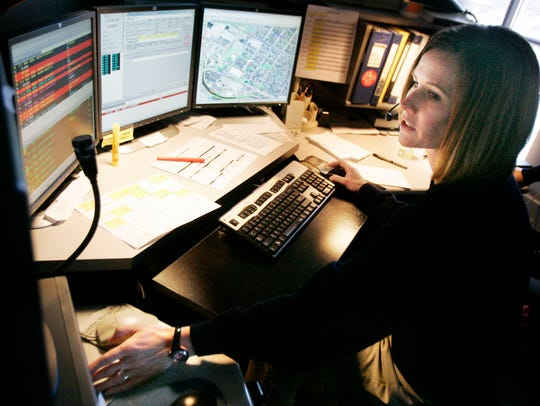 A Green Bay Police Department dispatcher in 2009.