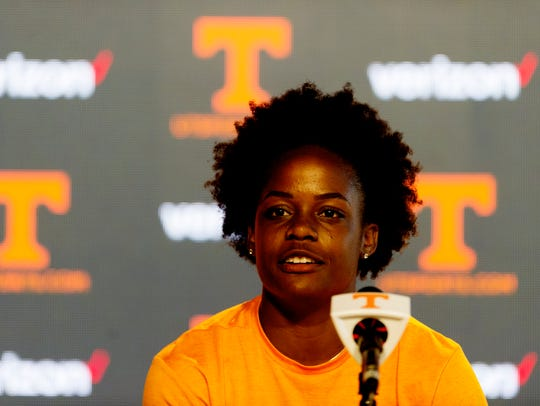 Tennessee redshirt sophomore soccer player Maya Neal