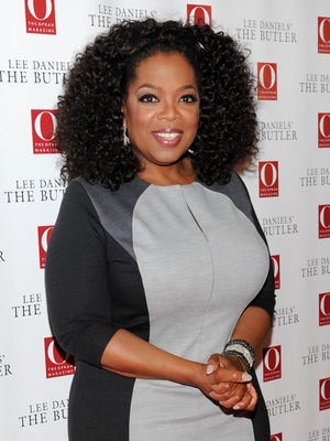 Oprah Winfrey, shown last month, surprised a member of the studio audience at 'Jimmy Kimmel Live.'