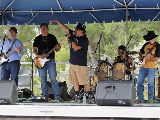 The band Fenders II performs Saturday afternoon at Riverfest.
