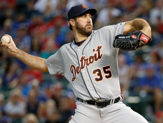 Detroit Tigers starting pitcher Justin Verlander (35)