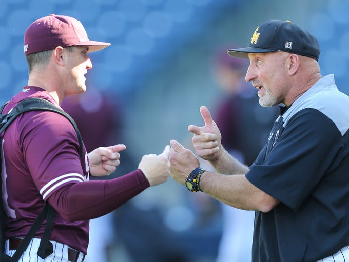 Mississippi State head baseball coach Andy Cannizaro