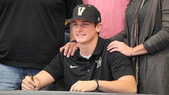 Roberson senior Garrett Blaylock has signed to play college baseball for Vanderbilt.